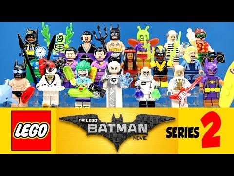 The Complete LEGO® Batman Movie Collectible Minifigures Series 2 w/ Joker & Harley Quinn