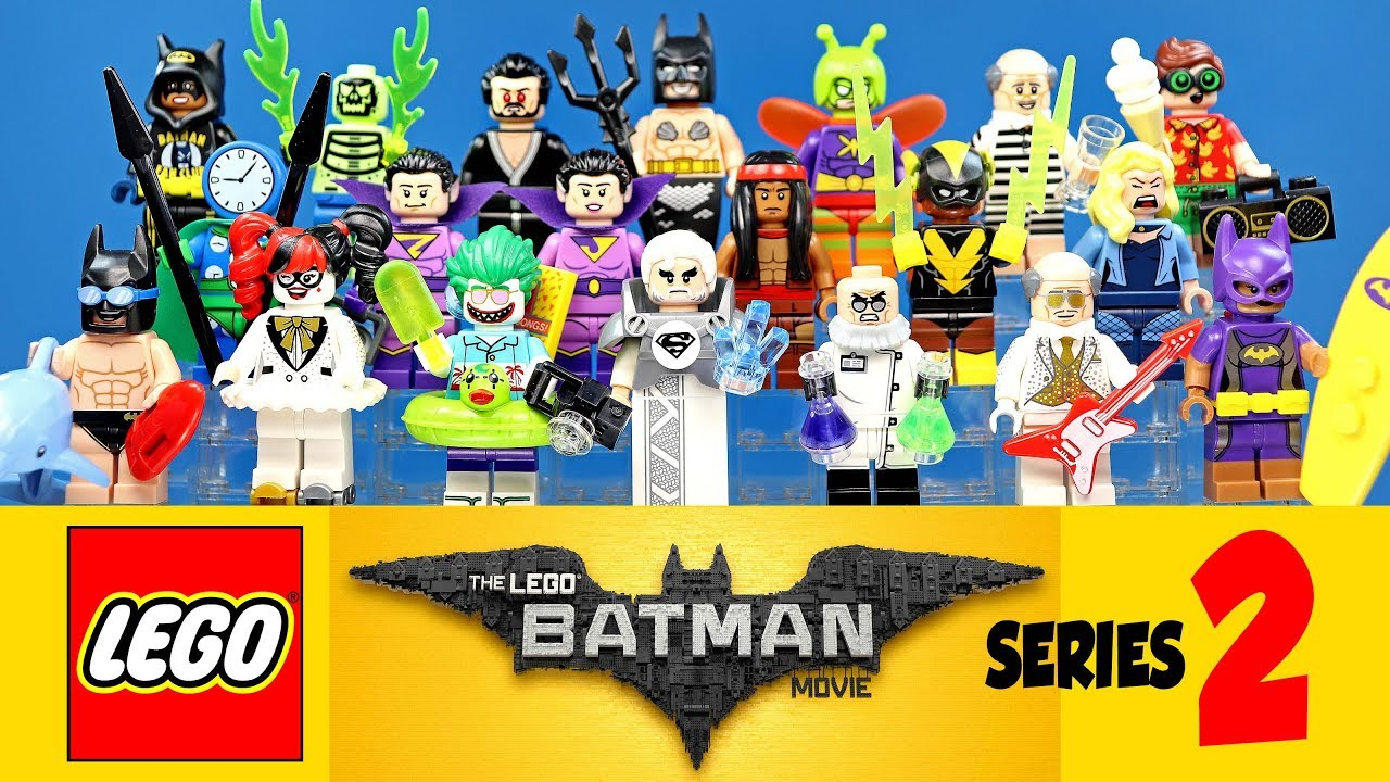 The Complete Lego Batman Movie Collectible Minifigures Series 2 W