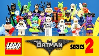 The Complete LEGO® Batman Movie Collectible Minifigures Series 2 w/ Joker & Harley Quinn