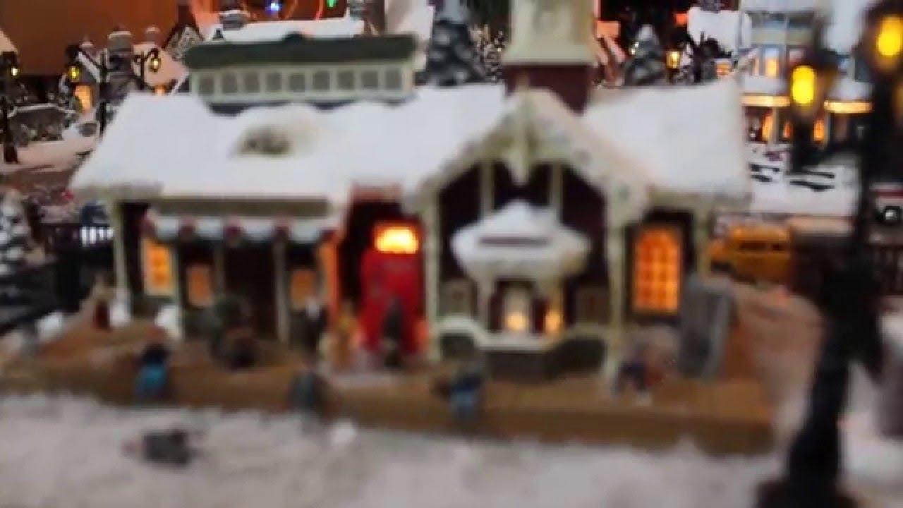 Thomas Kinkade Christmas Village - YouTube