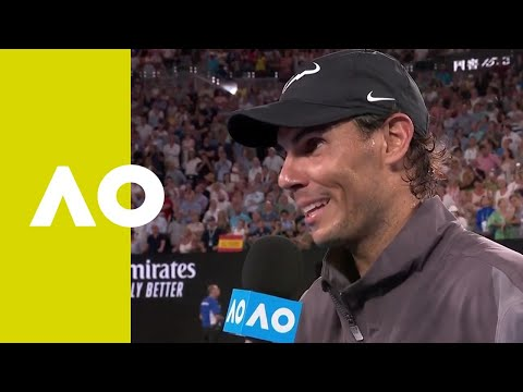 Rafael Nadal on-court interview (SF) | Australian Open 2019