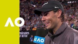 Rafael Nadal on-court interview (SF) | Australian Open 2019