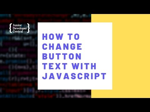How To Change Button Text With JavaScript thumbnail