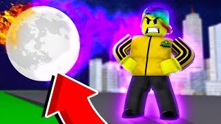 I Have to stop the MOON from Crashing INTO EARTH (Roblox Heroes Of Robloxia)