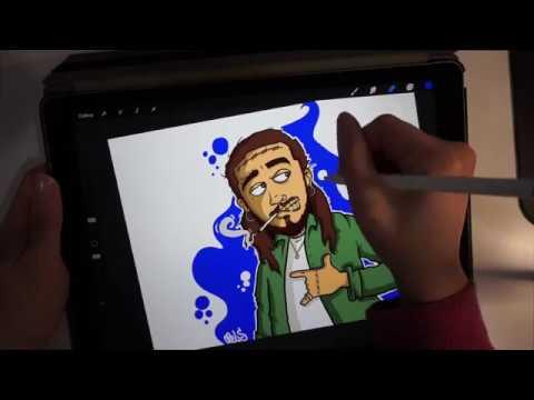 Drawing Post Malone Character!