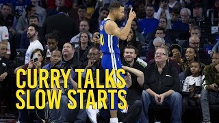 Stephen Curry on slow starts and mental mistakes thumbnail