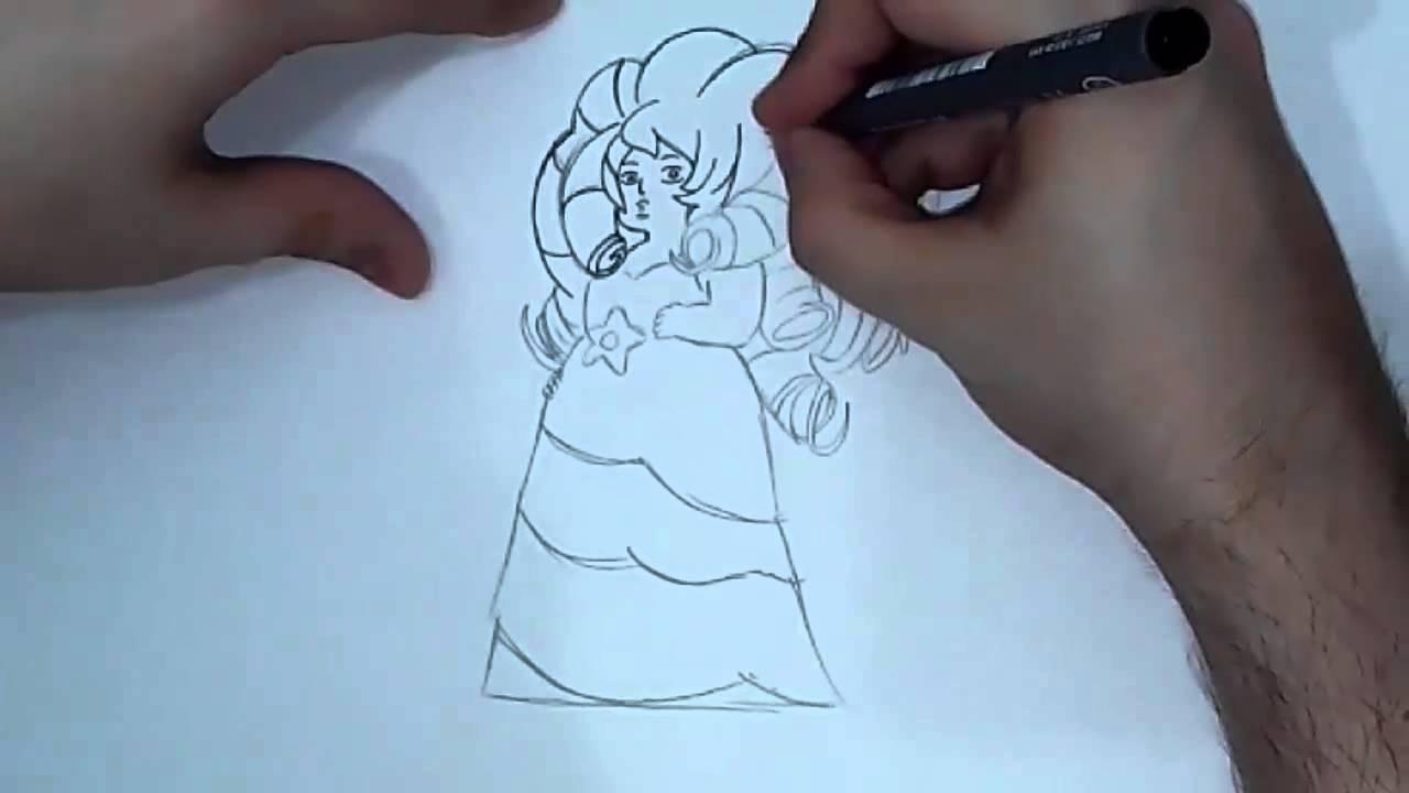 Como dibujar a Rose Cuarzo (Steven Universe) - YouTube