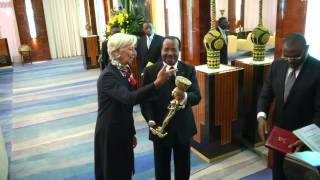 Audience accordée par S E  Paul BIYA à Mme Christine LAGARDE en visite officielle au Cameroun