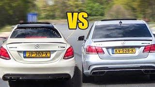 Mercedes C63S AMG vs E63 AMG - DRAG RACE