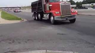 Kenworth W900L dump truck jake brake
