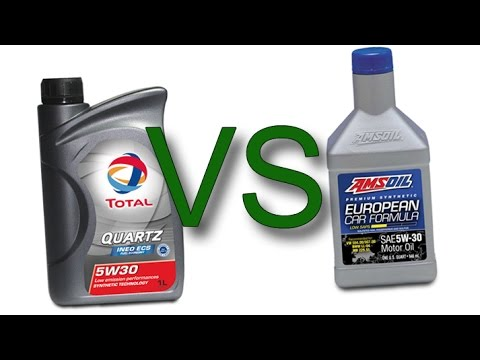 Total Quartz INEO ECS 5W30 vs Amsoil European Car Formula 5W30