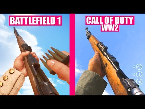 BATTLEFIELD 1 Guns Reload Animations vs Call of Duty WW2