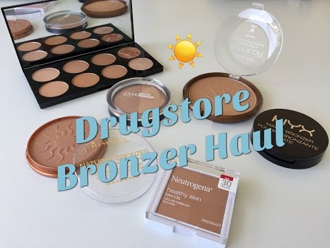 DRUGSTORE MAKEUP HAUL | BRONZERS | FIRST IMPRESSIONS + SWATCHES + TRY ON
