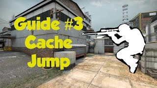 CS:GO guide #3 Cache roof jump from middle (How to be professi…