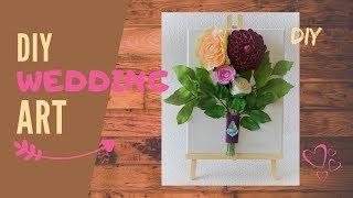 Handmade 3D wall picture | Foamiran flower decoration DIY