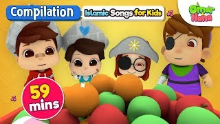 Download Omar & Hana | Compilation 59 Mins | Islamic Songs for Kids | Nasheed | Cartoon for Muslim Children Mp3