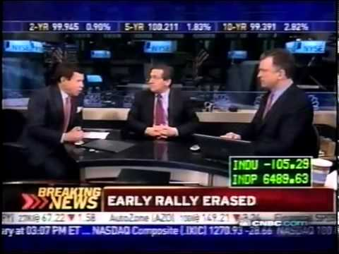 March 6th 2009 CNBC Stock Market Closing Bell Bear Market Intraday Lows