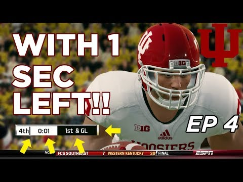 NCAA Football 14 Dynasty   Indiana Hoosiers - THRILLER DOWN TO LAST SECOND!!! EP 4