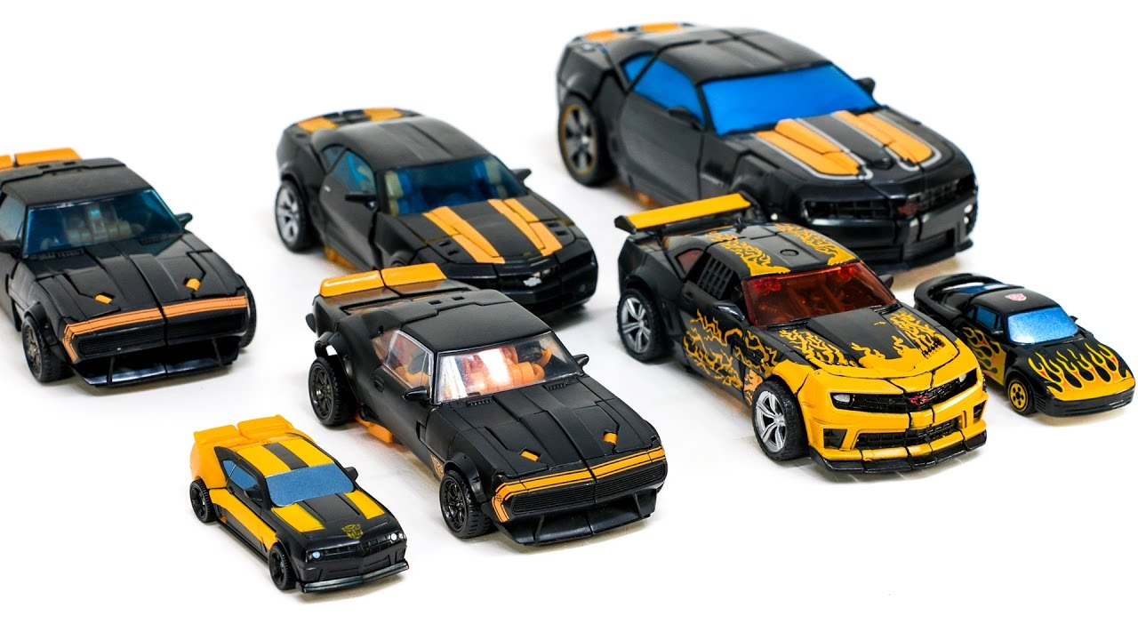 Transformers Black Color HiOctan CyberFire Stealth Human Alliance Bumblebee 7 Vehicle Robot Car Toys