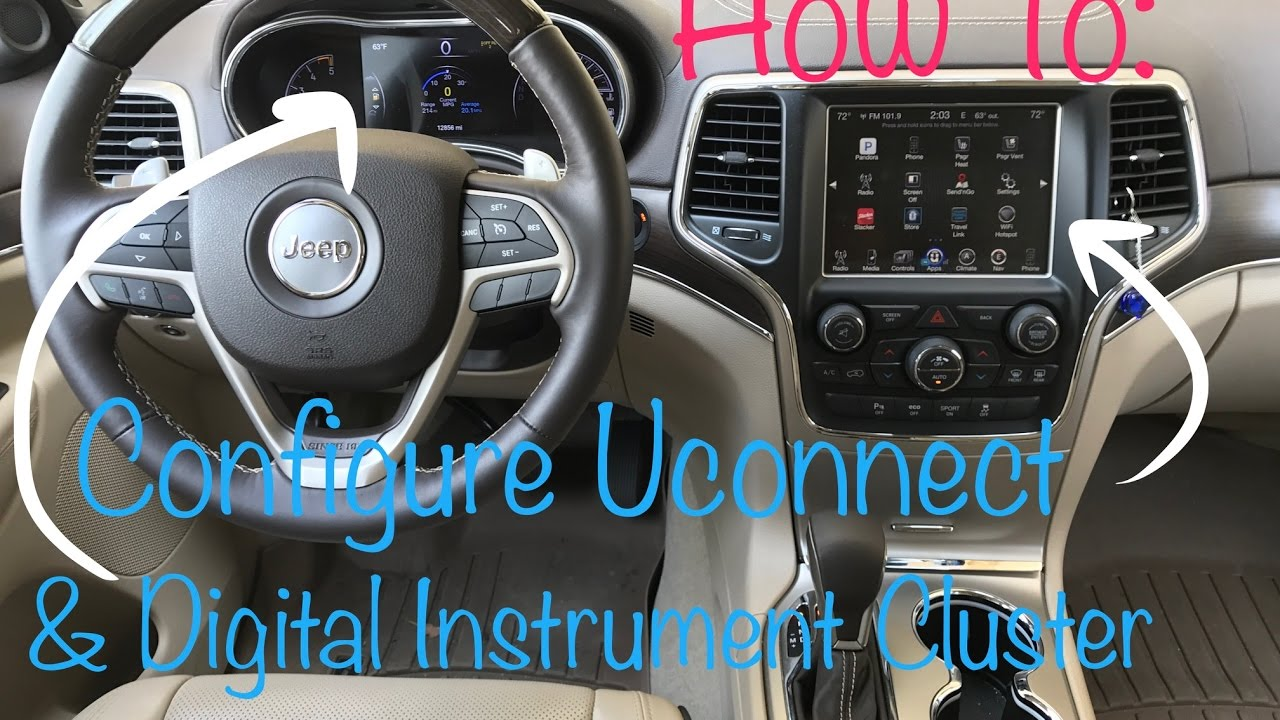 How To Configure Uconnect Infotainment System 2016 Jeep Grand Cherokee Youtube