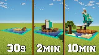 30s VS 2min VS 10min - Boat - Minecraft Timed Build Challenge - Ep.6