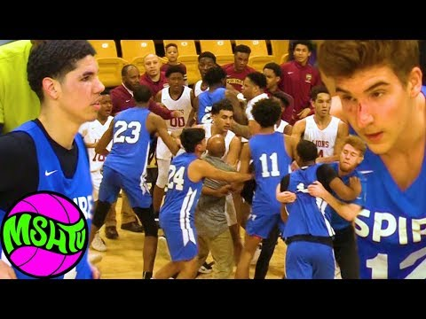 LaMelo Ball Spire Fight Breaks Out after CRAZY DUNKS in Baltimore