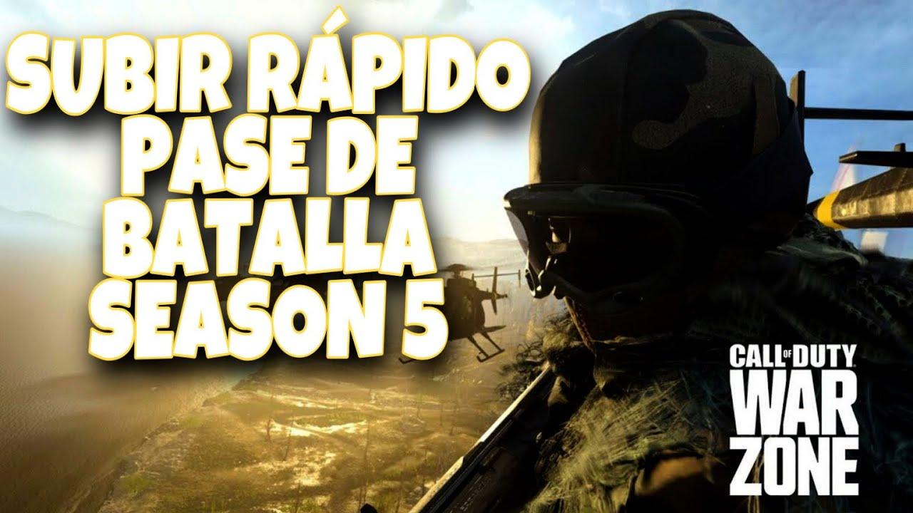 SUBIR RÁPIDO EL PASE DE BATALLA DE LA TEMPORADA 5 WARZONE/MULTI