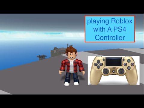 Playing Roblox With A Ps4 Controller Roblox Mobile Youtube