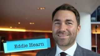 EDDIE HEARN REACTS TO LIVELY & BITTER FRAMPTON v QUIGG LONDON PRESSER & TALKS PAY-PER-VIEW ON DEC 12