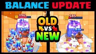 OLD vs New December Balance Update (12/3) | Clash Royale December Update