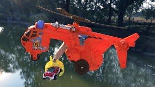 Вертолет MATCHBOX. Спасаем игрушечные машинки. Обзор игрушек Nick TURBO. toy review