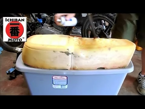 How to restore motorcycle seat foam - rejuvenator for vintage bikes and cafe racers - YouTube