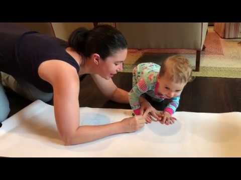 Handprint and Footprint Tracing Craft + Talking about Art History with Kids