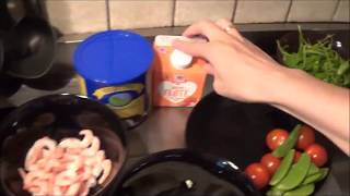 """Запеченный картофель с креветками в соусе из сыра""""Дор блю"""""""