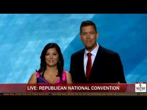 Rep. Sean Duffy & Rachel Campos-Duffy Speak at Republican National Convention (7-18-16)
