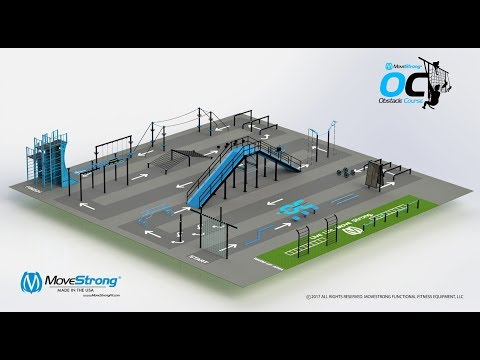 Complete MoveStrong Obstacle Course Design Functional Fitness Equipment