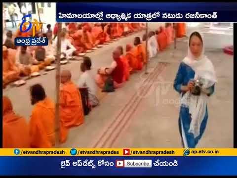 Rajinikanth Feeds 'Saffron' Sadhus | During His Spiritual Yatra to Himalayas