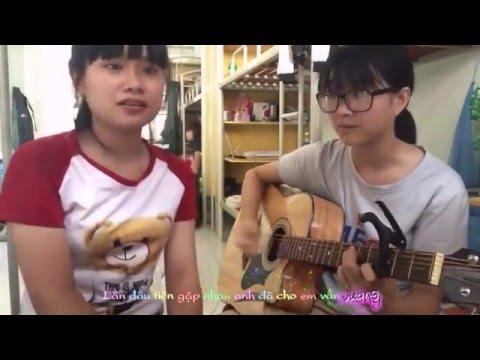 [2 Nữ sinh dễ thương cover]-Em nhớ anh (Joyce Chu)- Cover by Ty Vo - Vietsub
