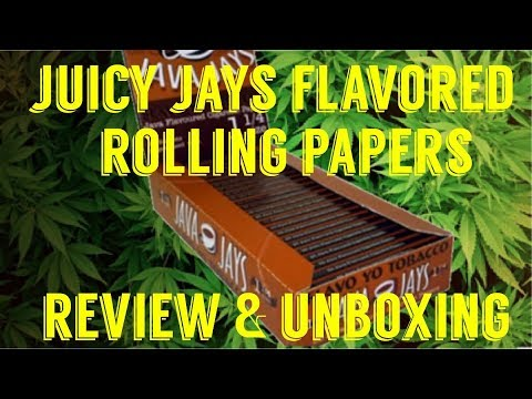 FULL MELT FUSION'S – JUICY JAY'S NATURAL FLAVORED HEMP PAPERS W/ SOY INK REVIEW #RawLife #RawLife