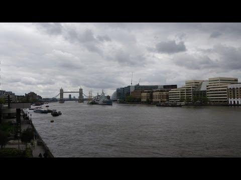 (4K)2014.イギリス・ロンドン旅行記3 - ロンドン・ミレニアム・フットブリッジからの眺め