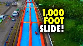 1,000 Ft Urban Slip N Slide - The Urban Slide - 2014