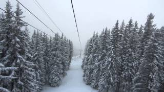 Bulgaria, Sofia, Vitosha Mountain Cable Car (snow) FULL HD thumbnail