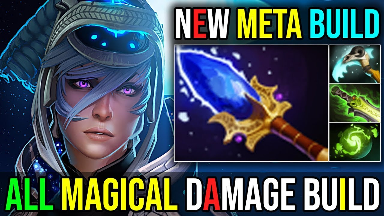 Aghanims Scepter Build Luna New Meta ALL MAGICAL ITEMS 22Kills 719 Dota 2 Highlights YouTube