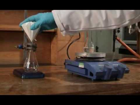 Gravity filtration with a hot solution
