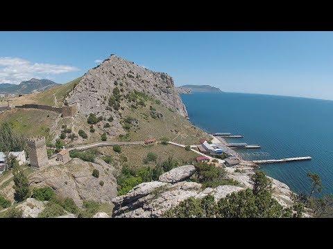 Пляж Уютное в Судаке. Дорога. Крым2017.