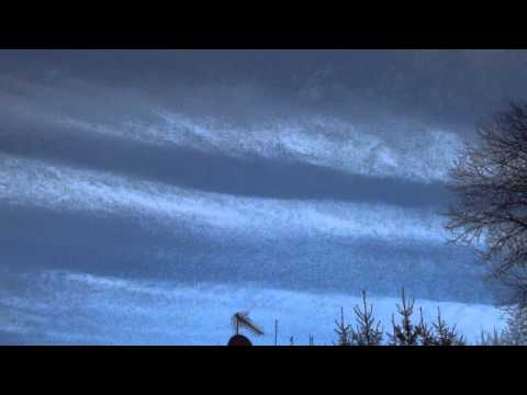 Chemtrails in Sweden March 2012
