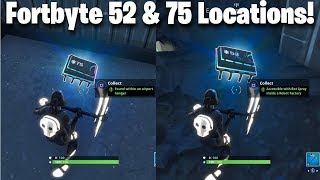Fortnite FortByte Challenges 52 & 75 Guide | Accessible With Bot Spray Inside Robot Factory