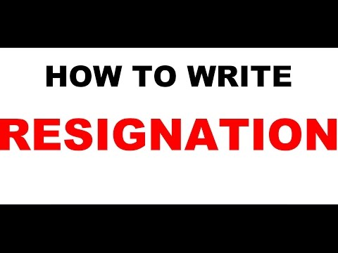 Resignation Letter Sample Video L Write One Month Prior Notice L