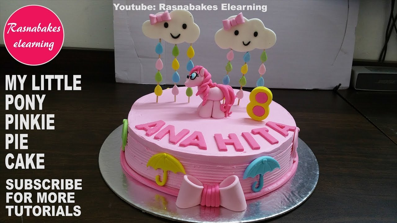 How To Make My Little Pony 3d Pinkie Pie Girls Happy Birthday Cake