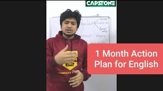 One Month Action Plan for English Preparation